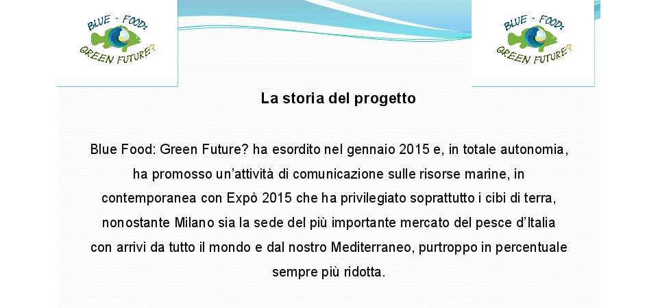Presentazione Blue Food: Green Future? allo Slow Fish di Genova