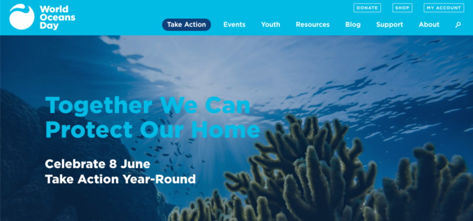 New World Oceans Day website and new2020 Conservation Action Focus!